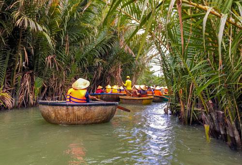 Bamboo Basket Boat Ride