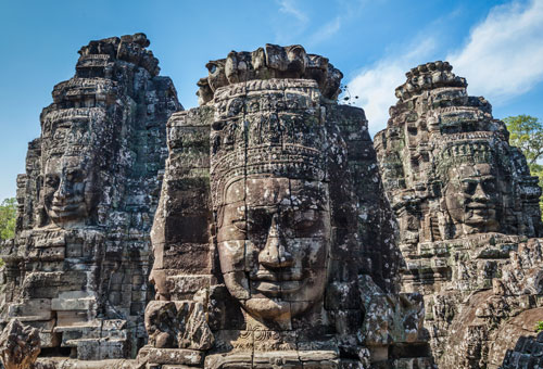 Angkor Thom smiling buddha face
