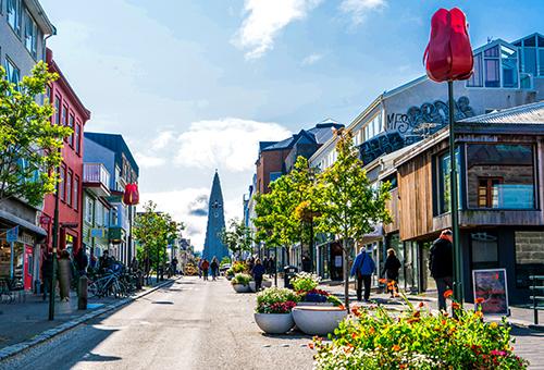 Walk in Downtown Reykjavik