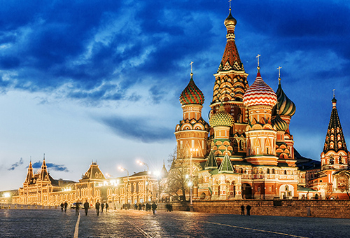 Red Square Night View