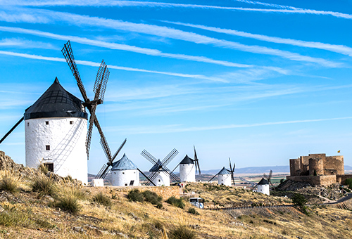 See the windmill that inspired the giant in Don Quixote