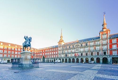 Get caught up in the hustle and bustle of Madrid's main square
