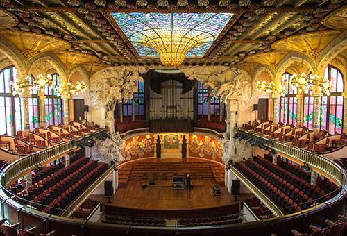 Experience a flamenco performance at the stunning Palau de la Musica Catalana
