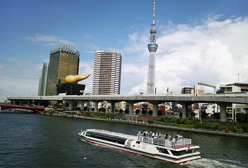 City highlights from Sumida River