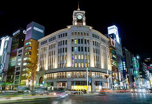 Feel the overflow of luxury in Ginza