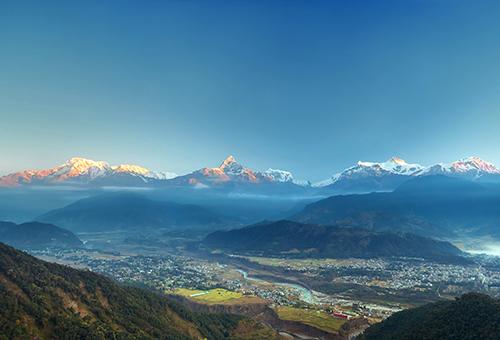 Sunrise at Annapurna range