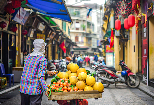 Hanoi's Old Quarter street life