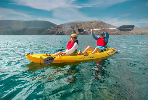 Kayaking in Galapagos Island
